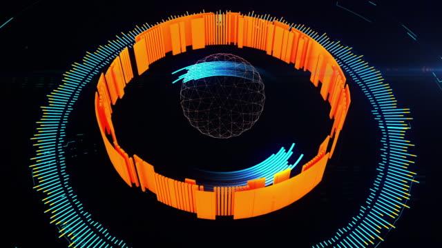 hi-tech futuristic hud - data breach stock videos and b-roll footage