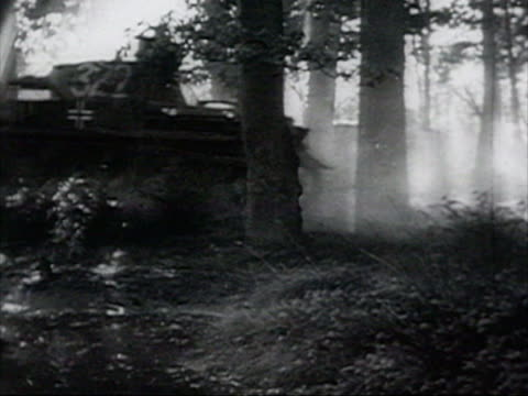 hitler approving barbarossa plan in december 1940, nazi tanks advancing in forest audio / russia - nazism stock videos & royalty-free footage