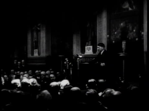 hitler delivers an anti-semitic address / germany - 1939 stock-videos und b-roll-filmmaterial