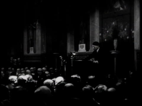 stockvideo's en b-roll-footage met hitler delivers an antisemitic address / germany - hitler speech