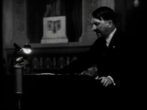 Hitler delivers an antiSemitic address / Germany