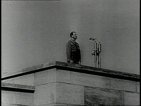 hitler speaking at a 1930s nazi rally / nuremberg, germany - nazism stock videos & royalty-free footage