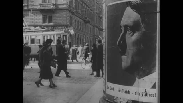 hitler's campaign posters on the streets/ ballots - 1932 stock videos & royalty-free footage