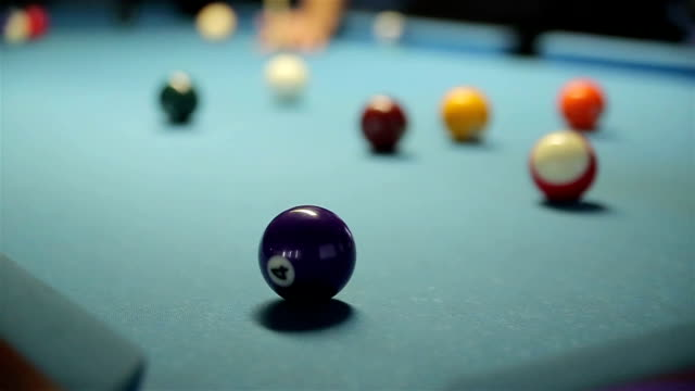 hitting balls at pool - carrom stock videos & royalty-free footage