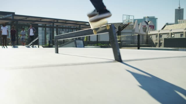 hitting up the skatepark - sports equipment stock videos & royalty-free footage