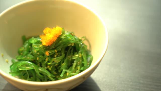 hiyashi wakame - seaweed stock videos and b-roll footage