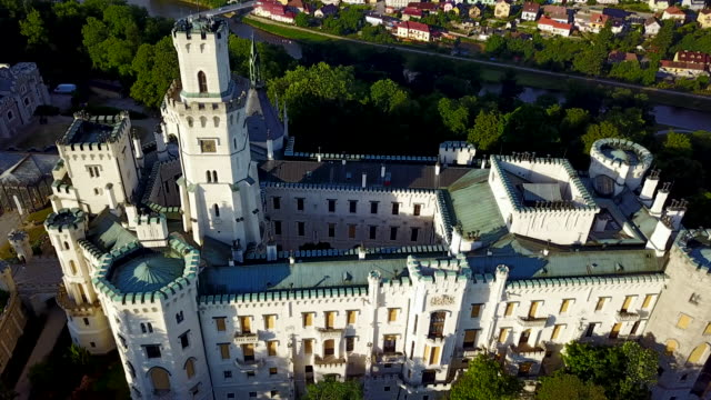 hluboka nad vltavou castle,  bohemia,czech republic. - czech republic stock videos & royalty-free footage