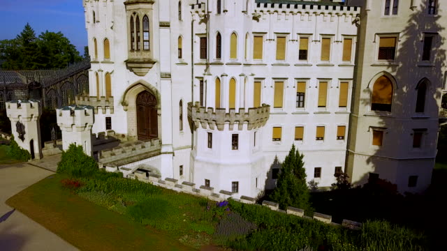 hluboka nad vltavou castle,  bohemia,czech republic. - castle stock videos & royalty-free footage