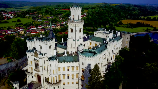 hluboka nad vltavou castle,  bohemia,czech republic. - bohemia czech republic stock videos & royalty-free footage