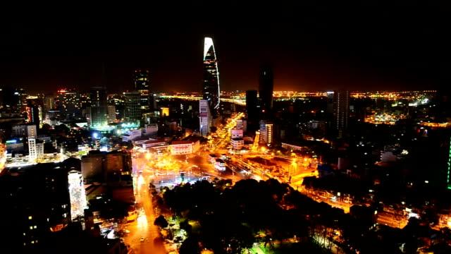 ho chi minh city at night - ho chi minh city stock videos & royalty-free footage