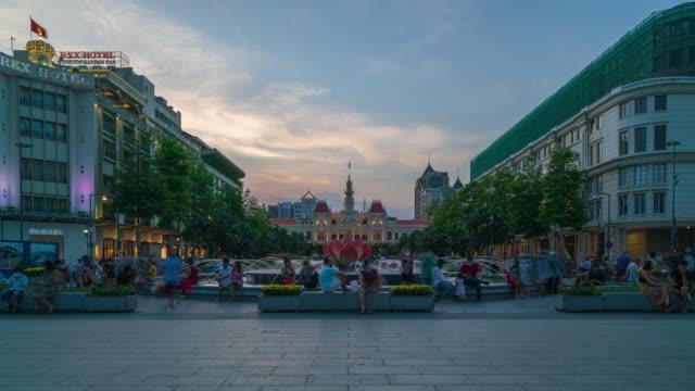 ho chi minh city time-lapse - ホーチミン市点の映像素材/bロール
