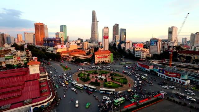 vidéos et rushes de ho chi minh ville viêt-nam, vue sur la ville - vietnam