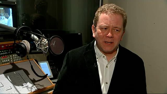 hoax caller put through to david cameron jon culshaw interview sot - jon culshaw stock videos & royalty-free footage