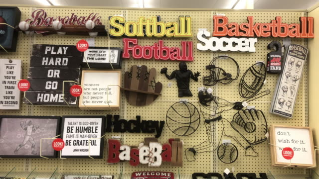 hobby lobby stores inc formerly called hobby lobby creative centers is a private forprofit corporation which owns a chain of american arts and crafts... - american football ball stock videos & royalty-free footage