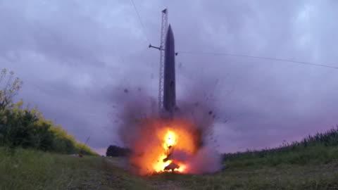 hobby rocket take off - rocket stock videos & royalty-free footage