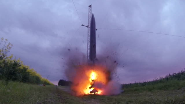 hobby rocket take off - rocket stock videos & royalty-free footage