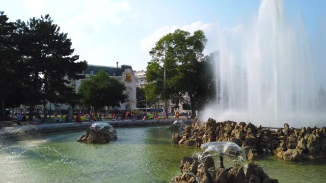 hochstrahlbrunnen fountain in vienna - 1945 stock videos & royalty-free footage