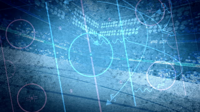 stockvideo's en b-roll-footage met hockey diagram background loop - ijsbaan