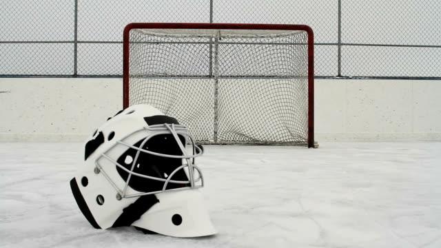 Hockey goalie mask and net