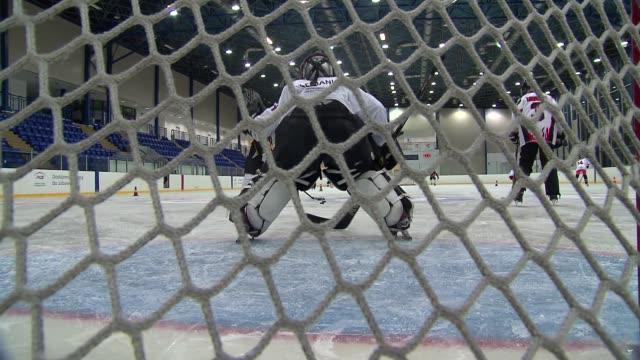 hockey goalkeeper - ice rink stock videos & royalty-free footage