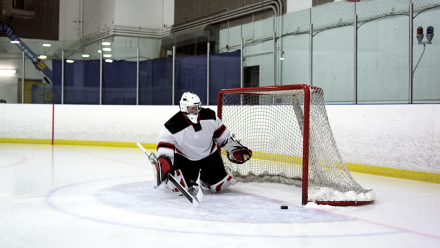 hockey player breakaway - hockey glove stock videos & royalty-free footage