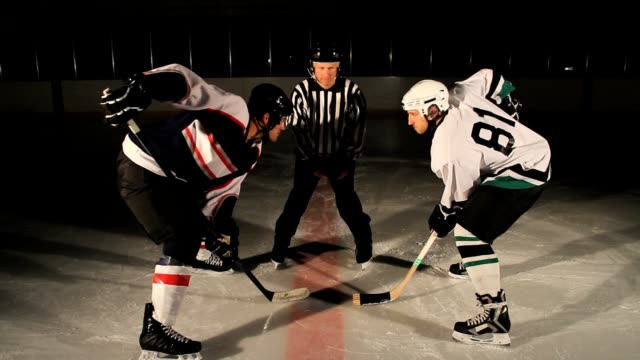 hockey player faceoff - ice hockey stock videos and b-roll footage
