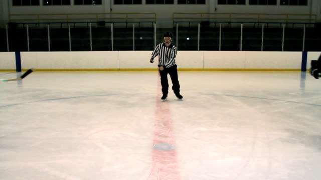 Hockey-Spieler Faceoff