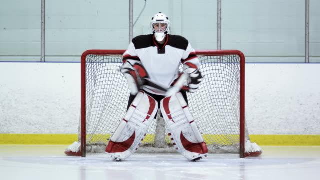 hockey player goalie - goalkeeper stock videos & royalty-free footage