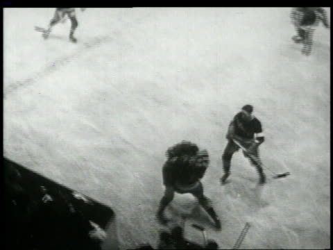 stockvideo's en b-roll-footage met w hockey players fighting / united states - 1949