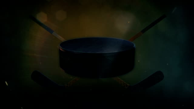 hockey puck in epic lighting - adobe after effects stock videos and b-roll footage