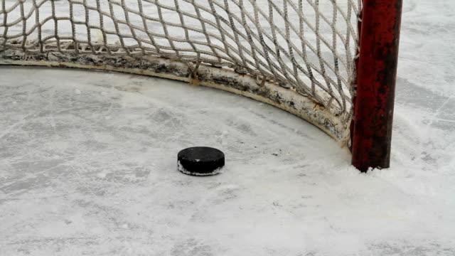 I dischi da Hockey diapositiva in vuoto rete