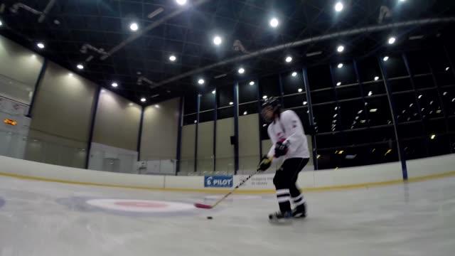 hockey training - ice rink stock videos & royalty-free footage
