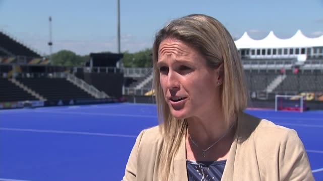 england beaten by netherlands in quarter final; england: london: stratford: queen elizabeth olympic park: lee valley hockey and tennis centre: crista... - quarterfinal round stock videos & royalty-free footage