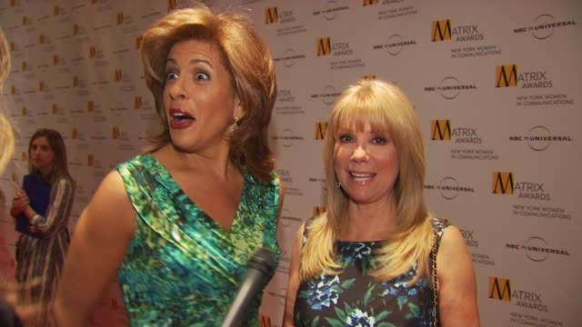 hoda kotb and kathy lee gifford join ann curry talking about the event and how today there are so many powerful women in the industry. at the 2009... - ann curry stock videos & royalty-free footage