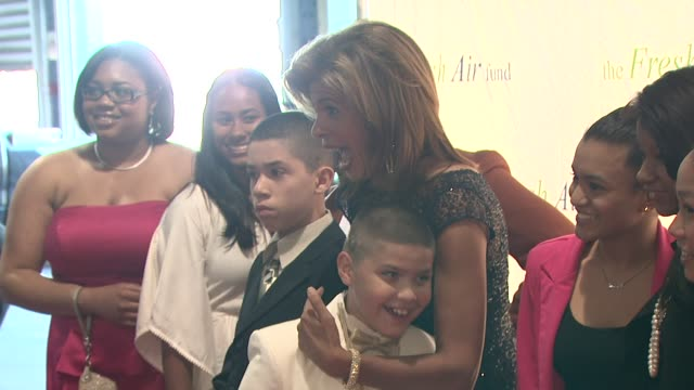 hoda kotb and kids at 2012 fresh air fund salute to american heroes at pier 60 on may 31, 2012 in new york, new york - hoda kotb stock videos & royalty-free footage