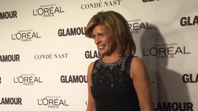 hoda kotb at glamour magazine's 24th annual women of the year awards at carnegie hall on november 10, 2014 in new york city. - hoda kotb stock videos & royalty-free footage