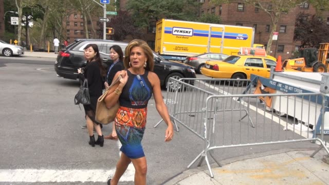 hoda kotb at lincoln center outside the mercedes-benz fashion week spring 2015 on september 08, 2014 in new york city. - hoda kotb stock videos & royalty-free footage