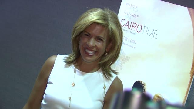 hoda kotb at the 'cairo time' new york screening at new york ny. - hoda kotb stock videos & royalty-free footage