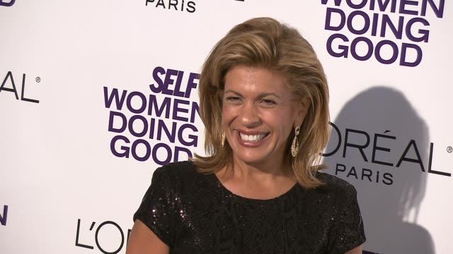 hoda kotb at the self magazine's 4th annual women doing good awards at new york ny. - hoda kotb stock videos & royalty-free footage
