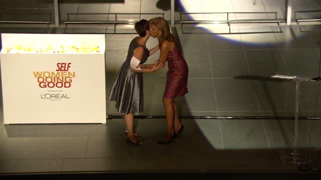 hoda kotb gives 2010 women doing good award to jj ramberg at the self magazine women doing good awards at new york ny. - hoda kotb stock videos & royalty-free footage