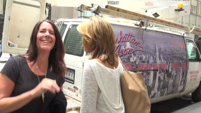 hoda kotb on if she will fill in for savannah guthrie during her maternity leave as she greets fans outside of the nbc studios in rockefeller center... - savannah guthrie stock videos & royalty-free footage