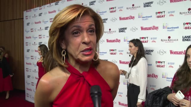 hoda kotb on supporting the cause at woman's day celebrates 16th annual red dress awards at appel room on february 12, 2019 in new york city. - hoda kotb stock videos & royalty-free footage