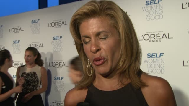hoda kotb on the self awards, on being a part of the awards since they started, why the awards are so great to highlight women who do such good work... - hoda kotb stock videos & royalty-free footage