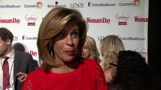 hoda kotb on what brings her out tonight. on what women can do to stay heart healthy at woman's day red dress awards red carpet benefitting go red... - hoda kotb stock videos & royalty-free footage