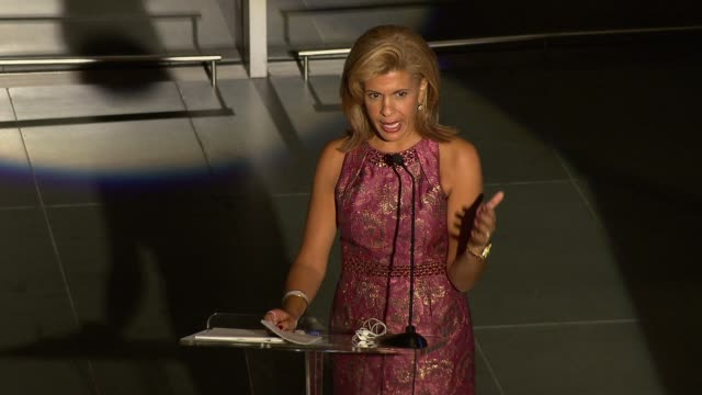 hoda kotb talks about kitchen on the street, a charity established by lisa scarpinato and her family. at the self magazine women doing good awards at... - hoda kotb stock videos & royalty-free footage
