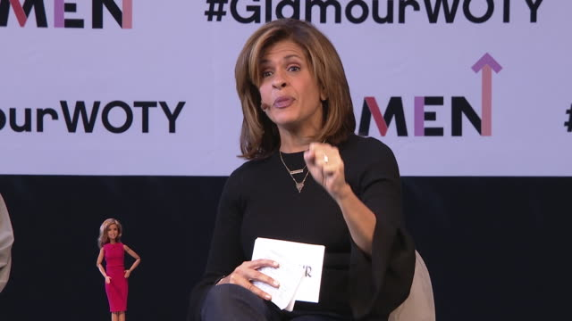 hoda kotb tells a story of how losing things in her life making her fearless at glamour's women of the year live summit at spring studios on november... - hoda kotb stock videos & royalty-free footage