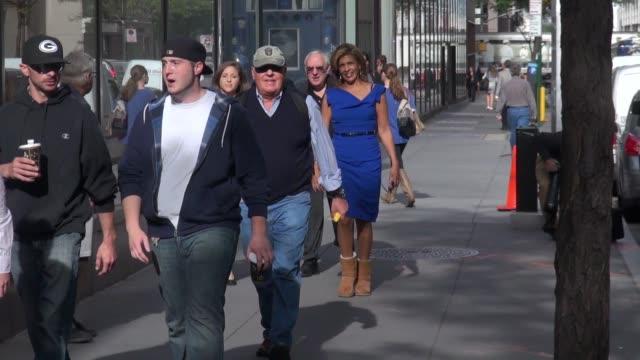 hoda kotb walking back to the today show on september 24, 2014 in new york city. - hoda kotb stock videos & royalty-free footage