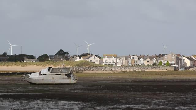 hodbarrow on the cumbrian coast, uk. - tide stock videos & royalty-free footage