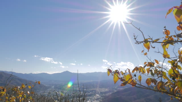 Hodosan mountain top scene with sun, Chichibu