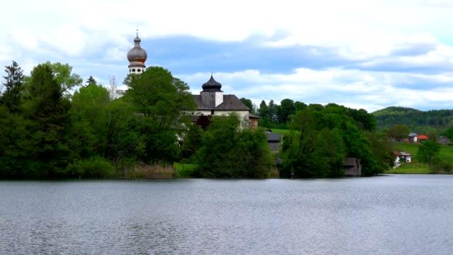 夏のバイエルンのホーグルヴェルト修道院 - ベルヒテスガーデナーランド点の映像素材/bロール